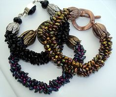 Magatama Bead Kumihimo Braided Bracelet (Tutorial to Buy)