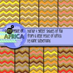 *50% OFF FOR THE FIRST 48 HOURS* Included in this set are 9 12x12inch burlap, glitter and fall colors digital paper. 300DPI Enjoy and have a happy day! I have included my TOU in your set. All free & paid graphics from A Little Peace of Africa may be used commercially or in your free products - credit must be given back to A Little Peace of Africa (for both paid and free products)
