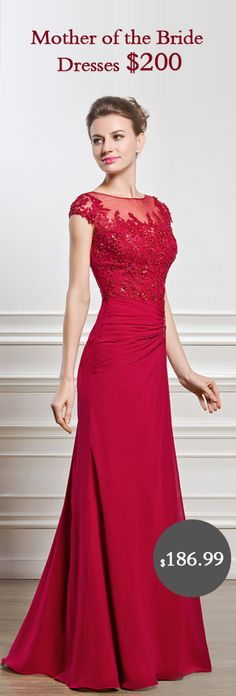 Ruby Red Mother of the Bride Dresses #mother