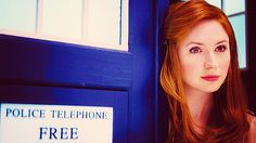 Amelia Pond. love the color contrast here