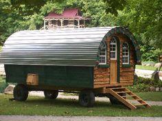 An oversize gypsywagon by Woolywagons www.woolywagons.com 765-513-9104