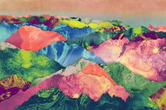 Orie's mountain art. #山 #山の絵 #山イラスト #山アート #mountain #mountainillust Dawn, Painting, Painting Art, Paintings, Painted Canvas, Drawings