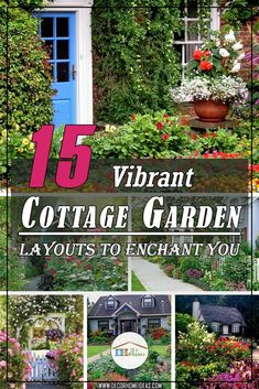 15 Vibrant Cottage Garden Layouts To Enchant You #cottagegarden #cottage #garden #landscaping #backyard #flowers #decorhomeideas