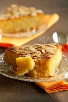 Fondant à l'orange et aux amandes. Sans beurre ni huile ni crème.