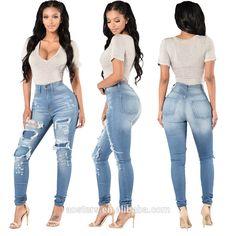 e0f070fbd wholesale high quality boutique hole woman pants large size ladies jeans  top design free shipping Boutique