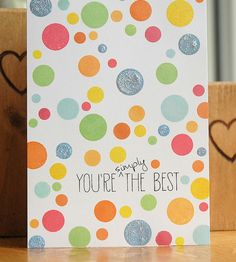 Simply the Best One Layer Card | AllFreePaperCrafts.com