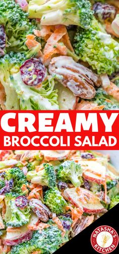The ORIGINAL Broccoli Salad Recipe - loaded with broccoli, apples, craisins and pecans, and tossed in a creamy lemon dressing. A must-try broccoli salad! Also learn why you should eat broccoli raw. Apple Salad Recipes, Fresh Salad Recipes, Salad Dressing Recipes, Craisins Recipes, Kitchen Recipes, Cooking Recipes, Healthy Recipes, Fast Recipes, Brocolli Apple Salad