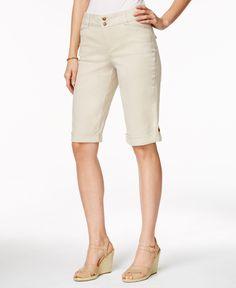 Charter Club Roll-Tab Cuffed Bermuda Shorts, Only at Macy's