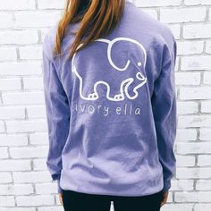 Pocketed Lavender Classic Print. Ivory Ella, A PORTION OF PROCEEDS ARE DONATED TO: Save the Elephants