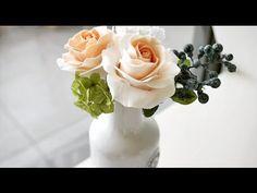 Роза Холодный фарфор Mастер Класс от Риты Часть2 - YouTube
