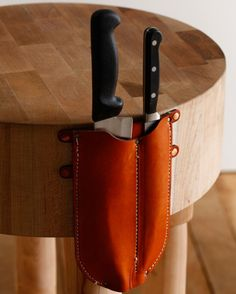 Lostine Butcher Block Knife holster...one day, one day hard. http://lostine.com/item/dorcas-knife-holder/193/c11