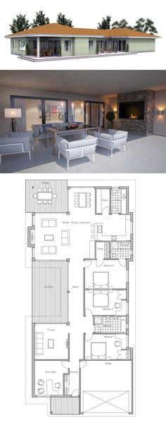 Make dining room and kitchen bigger instead of a second formal dining room. Turn courtyard into another room or make a bigger tv room and office. Sims House Plans, Dream House Plans, House Floor Plans, Building A Container Home, Container House Plans, Narrow House Plans, Modern House Plans, 4 Bedroom House Plans, Deco Design