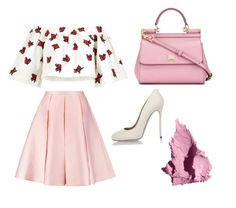"""(3) Pink style #pinkfashion #folllowforfollow #likeforlike #pink"" by savirafianiesa on Polyvore featuring House of Holland, Emilia Wickstead, Dolce&Gabbana, Dsquared2 and Bobbi Brown Cosmetics"