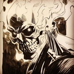 Ghost Rider commission I'm working on. Still got a few more spots on my SDCC list. Ghost Rider Johnny Blaze, Ghost Rider Marvel, Marvel Comic Universe, Marvel Art, Ghost Rider Drawing, Art Sketches, Art Drawings, Arte Hip Hop, Arte Dc Comics
