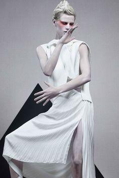"""It's A Matter of Shape""   Model: Saskia de Brauw, Photographer: Craig McDean, Vogue Italia, February 2014"