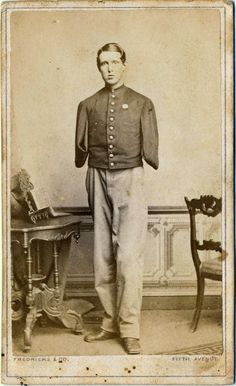 ca. 1860's portrait of a Civil War veteran