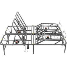 Pragmatic Adjustable Bed Frame Head and Foot, Multiple Sizes - Walmart.com