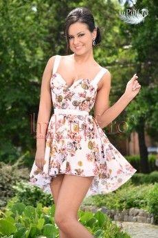 Rochie casual eleganta cu imprimeu floral