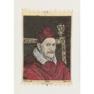 Portrait of Pope Innocent X (1650) by Diego Velázquez, Howard Huffsschmidt,  1964