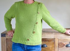 """""""Elena"""" - Sweater with button band"""