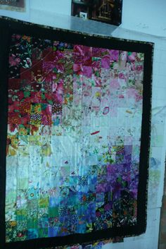 """My watercolor    1st place winner In the """" I Airdale Festival of Valinhos """"  as a little quilt!"""