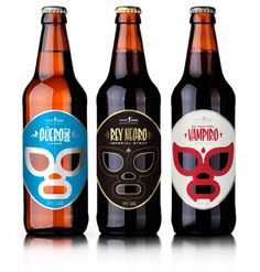 beer labels + lucha libre