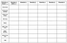 Outils Brigade : Planning pour remplacement long En cas de remplacement long, je ne laisse pas à ma/mon collègue mes tergiversations autour du cahier journal mais plutôt un document synthétique et une copie des prog associées sur la période concernée. Voici mon document (en modifiable et en pdf) :