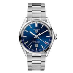 TAG Heuer - Carrera Three Hands, new 2021 collection | Time and Watches | The watch blog Tag Heuer Carrera Automatic, Tag Heuer Carrera Calibre, Sport Watches, Watches For Men, Watch Blog, Watch Display, Stainless Steel Watch, Automatic Watch, Watch Brands