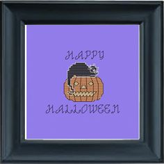 Halloween Cross Stitch Pattern, PDF, Instant Download, DMC Threads by KnitSewMake on Etsy