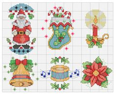 This Pin was discovered by Ara Cross Stitch Christmas Ornaments, Xmas Cross Stitch, Christmas Embroidery, Christmas Cross, Counted Cross Stitch Patterns, Cross Stitch Charts, Cross Stitch Designs, Cross Stitching, Cross Stitch Embroidery