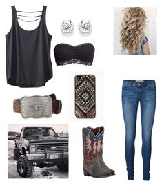 """""""God Gave Me You❤️"""" by babyinblue on Polyvore featuring Kavu, H&M, Vero Moda, Dan Post, Free People, Ariat and M&F Western"""