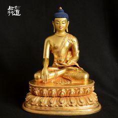 上行道释迦牟尼佛像鎏金尼泊尔手工铜摩尼佛藏传佛教密宗1寸一1尺-淘宝网