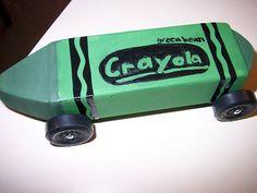 A Green Bean Colored Crayon