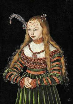Lucas Cranach The Elder Kronach Weimar. Portrait of Princess Sybille of Cleves, Wife of Johann Friedrich the Magnanimous of Saxony.