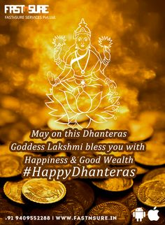 May on this goddess Lakshmi bless you with Happiness & Good Wealth. Happy Dhanteras, Car Repair Service, Goddess Lakshmi, Jodhpur, Wealth, Celebrations, Blessed, Happiness, Bonheur