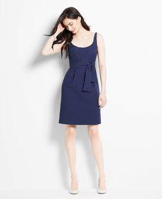 Petite Textured Scoop Neck Dress