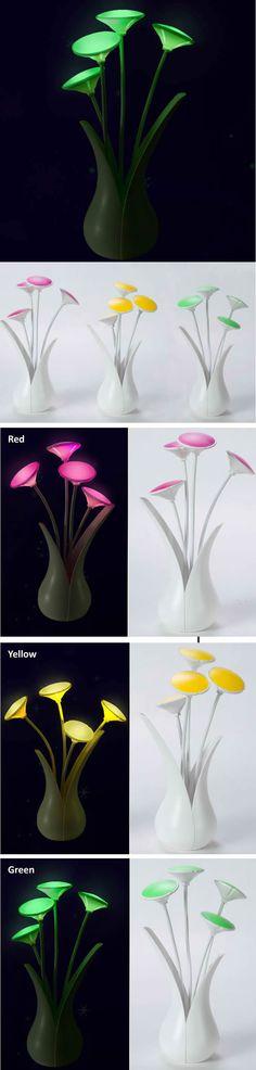 Flowerpot Light-control LED Night Light