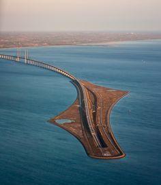 Øresund Bridge, bridge-tunnel across the Øresund strait between Sweden and Denmark