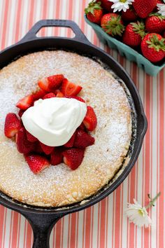 gooey butter strawberry shortcake....in a skillet.  loving these skillet ideas