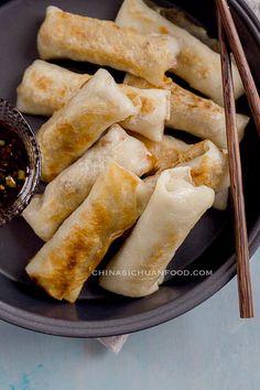 Vegan Spring Rolls with Shredded Taro Drink Recipes, Appetizer Recipes, Vegan Recipes, Vegetarian Food, Vegan Food, Healthy Side Dishes, Healthy Snacks, Vegan Spring Rolls, Asian Desserts