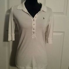 Juicy Couture Tops - Juicy couture Henley silverjuicy on back of collar