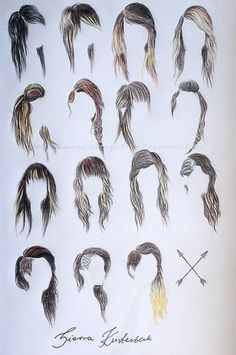 I'm secretly dying to do my hair like the second style in the last row.