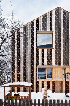 he und du Wooden Facade, Forest House, House In The Woods, Cladding, Architecture Design, Pergola, Stairs, Exterior, Cabin