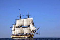 fragata francesa Hermione se va de Las Palmas