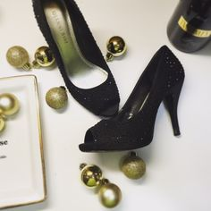 Black Studded Pumps Gianni Bini Black Rhinestone Studded Pump. Gently used and in great condition. I'm a size 7 and this show is now to small for me. Gianni Bini Shoes Sandals
