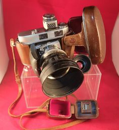 Kodak Retina IIC 1958 Schneider Xenon F 2.8  f:4 lenses  Case & Strap Lightmeter, hoods by FromDECOtoDISCO on Etsy