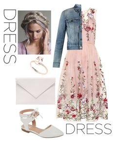 """""""Floral beauty"""" by vanessa-espinoza-i ❤ liked on Polyvore featuring Yves Saint Laurent, GC Shoes and Verali"""