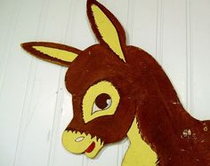 Vintage Fiber Board Pin the Tail on the Donkey  by DivineOrders, $39.00