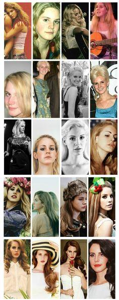 Evolution of Lana Del Rey #LDR #Elizabeth_Grant #Lizzy_Grant