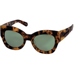 Karen Walker Crazy Tort Northern Lights Sunglasses (€185) ❤ liked on Polyvore featuring accessories, eyewear, sunglasses, tortoise, tortoiseshell cat eye sunglasses, tortoise shell cat eye glasses, tortoise cat eye glasses, karen walker sunglasses and plastic lens glasses
